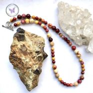 Mookaite Necklace With Silver Toggle Clasp